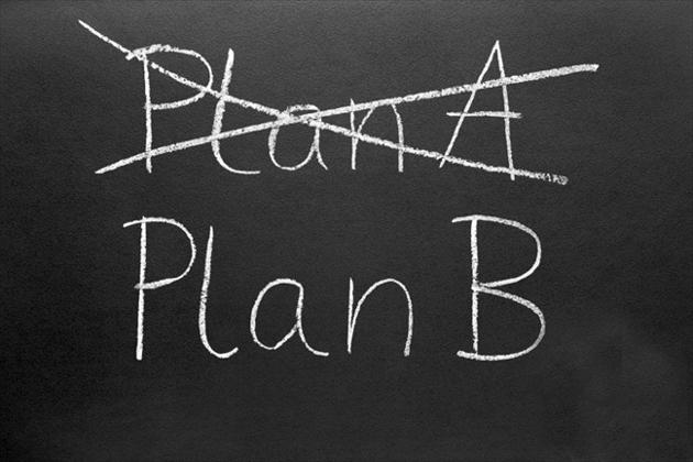 Plan A (durchgestrichen) Plan B