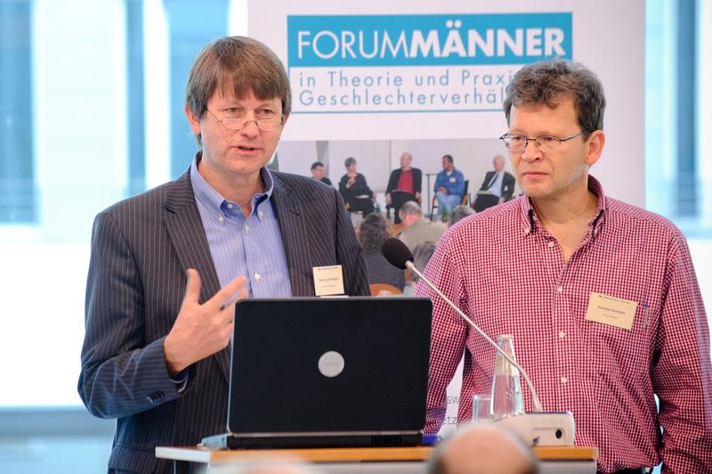 Henning von Bargen (Gunda-Werner-Institut) und Andreas Goosses (Forum Männer)